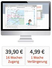 16-Wochen-Zugang 39,90 € (inkl. Mwst.), 1 Woche Verlängerung 4,99 € (inkl. Mwst.)